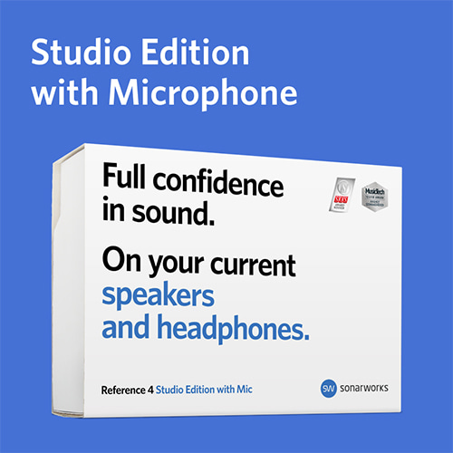 [Sonarworks] Reference 4  Studio Edition with mic (Box) [KOBA 전시품]